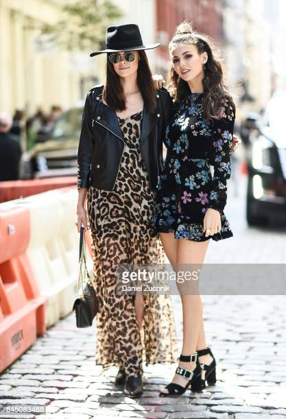 Madison Guest and Victoria Justice are seen outside the Rebecca Minkoff show during New York Fashion Week Women's S/S 2018 on September 9 2017 in New...
