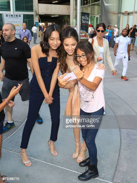 Madison Hu and Olivia Rodrigo are seen on July 11 2017 in Los Angeles California