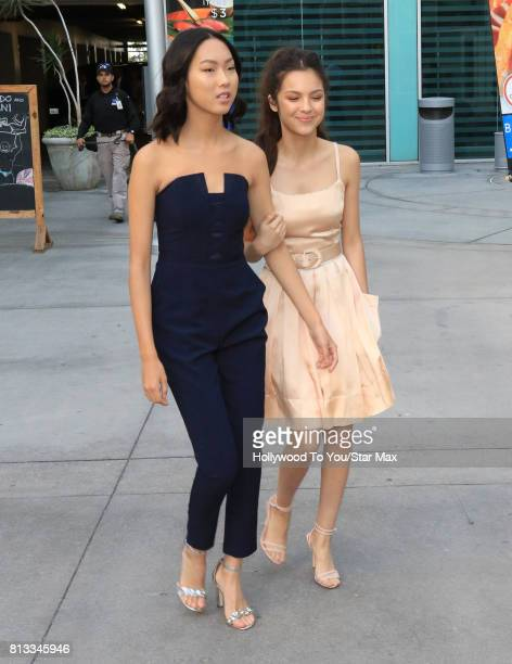Madison Hu and Olivia Rodrigo are seen on July 11 2017 in Los Angeles CA