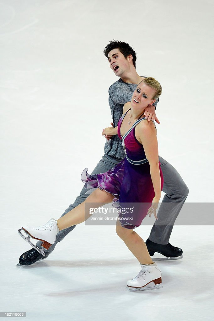 Madison Hubbel and Zachary Donohue of the United States compete in the Ice Dance Free Dance competition during day three of the ISU Nebelhorn Trophy at Eissportzentrum Oberstdorf on September 28, 2013 in Oberstdorf, Germany.