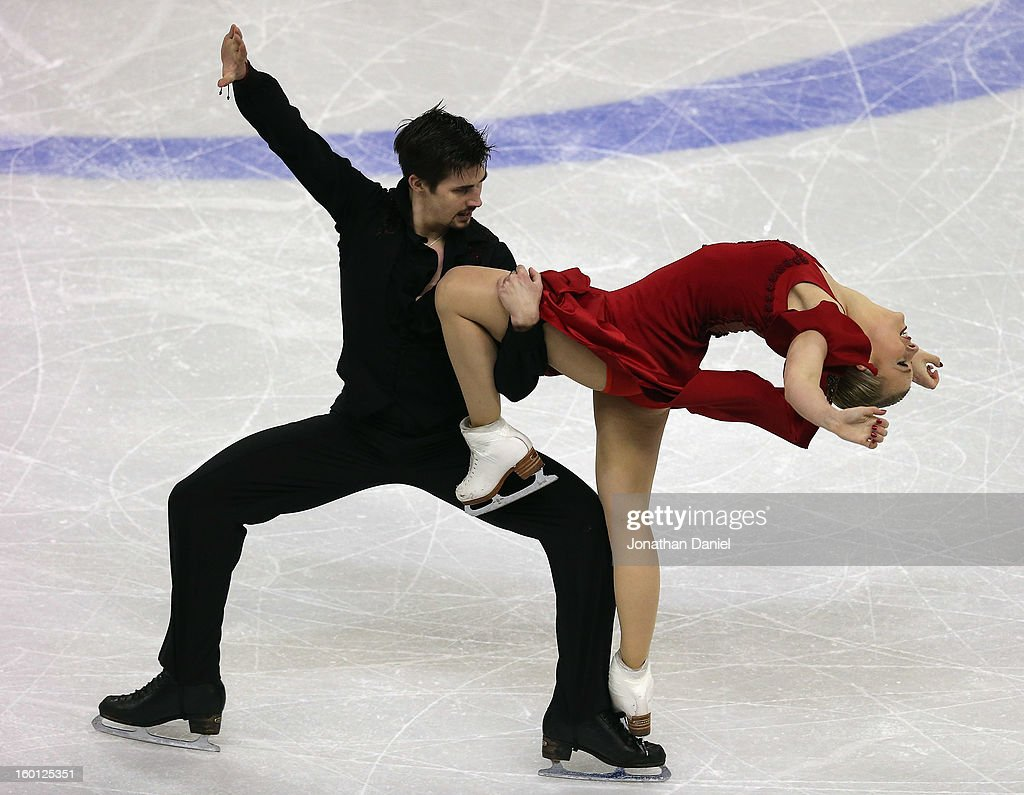 Madison Hubbell and Zachary Donohue compete in the Pairs Free Dance during the 2013 Prudential U.S. Figure Skating Championships at CenturyLink Center on January 26, 2013 in Omaha, Nebraska.