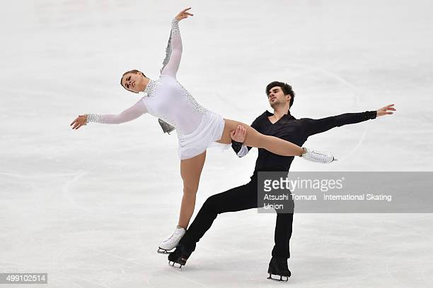 Madison Hubbell and Zachary Donohue of the USA compete in the Ice dance free dance during the day three of the NHK Trophy ISU Grand Prix of Figure...