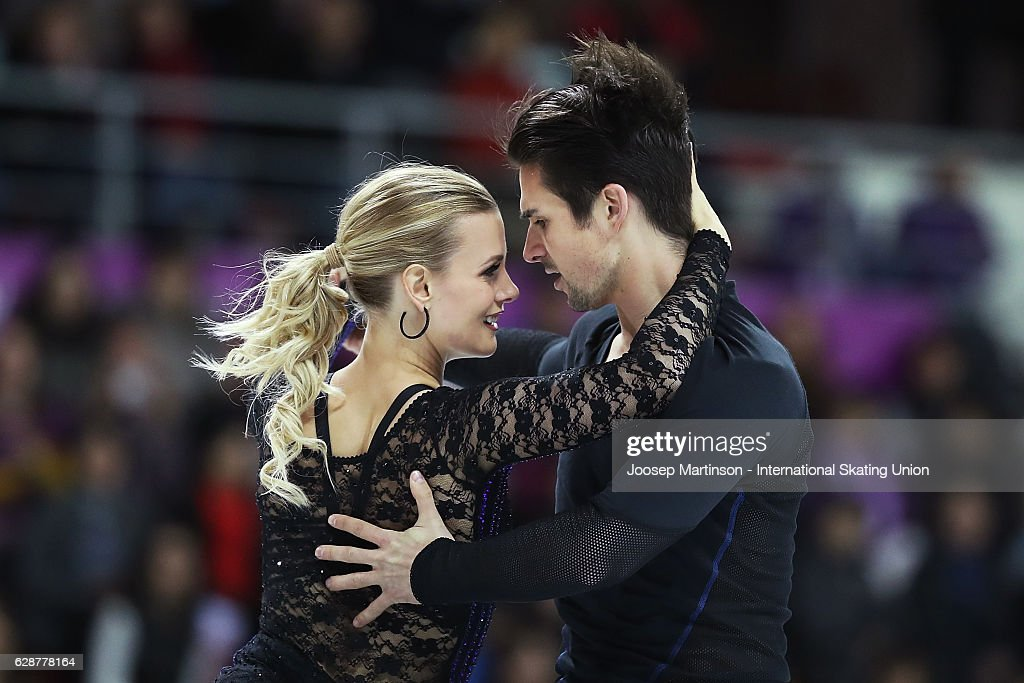 Madison Hubbell and Zachary Donohue of United States compete during Senior Ice Dance Short Dance on day two of the ISU Junior and Senior Grand Prix of Figure Skating Final at Palais Omnisports on December 9, 2016 in Marseille, France.