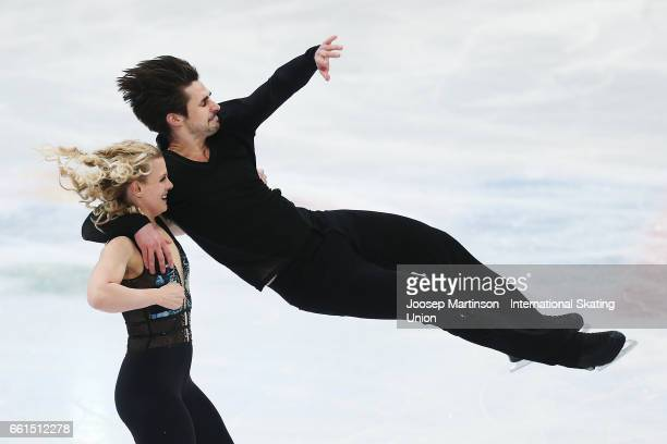 Madison Hubbell and Zachary Donohue of United States compete in the Ice Dance Short Dance during day three of the World Figure Skating Championships...