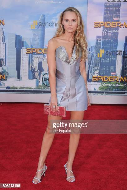 Madison Iseman arrives at the Los Angeles Premiere 'SpiderMan Homecoming' at TCL Chinese Theatre on June 28 2017 in Hollywood California