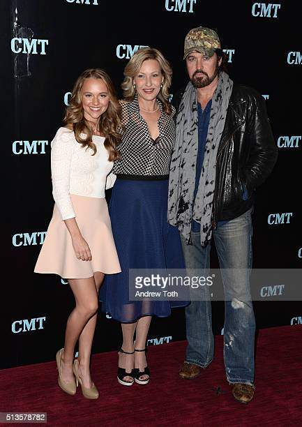 Madison Iseman Joey Lauren Adams and Billy Ray Cyrus attend the Viacom Kids and Family Group Upfront event at Frederick P Rose Hall Jazz at Lincoln...