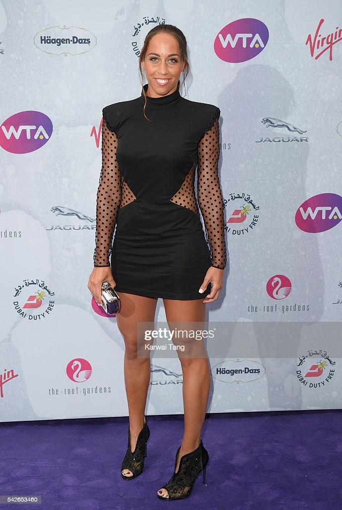 Madison Keys arrives for the WTA Pre-Wimbledon Party at Kensington Roof Gardens on June 23, 2016 in London, England.