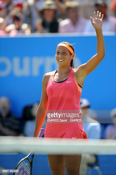 Madison Keys celebrates winning the Women's Singles against Angelique Kerber