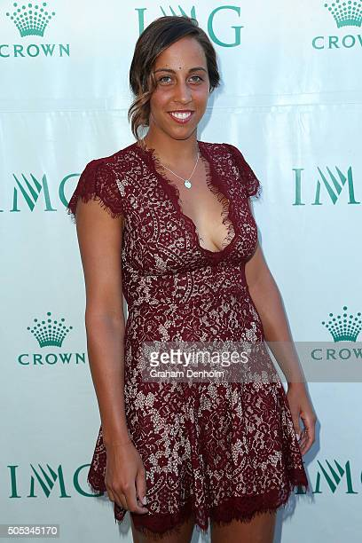 Madison Keys of the United States arrives at the 2016 Australian Open party at Crown Entertainment Complex on January 17 2016 in Melbourne Australia