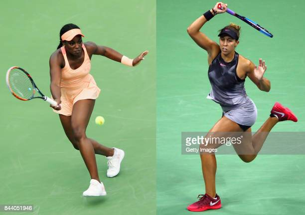 FILE PHOTO Image Numbers 842297904 and 843923598 In this composite image a comparison has been made between 2017 US Open Women's Finalists Sloane...
