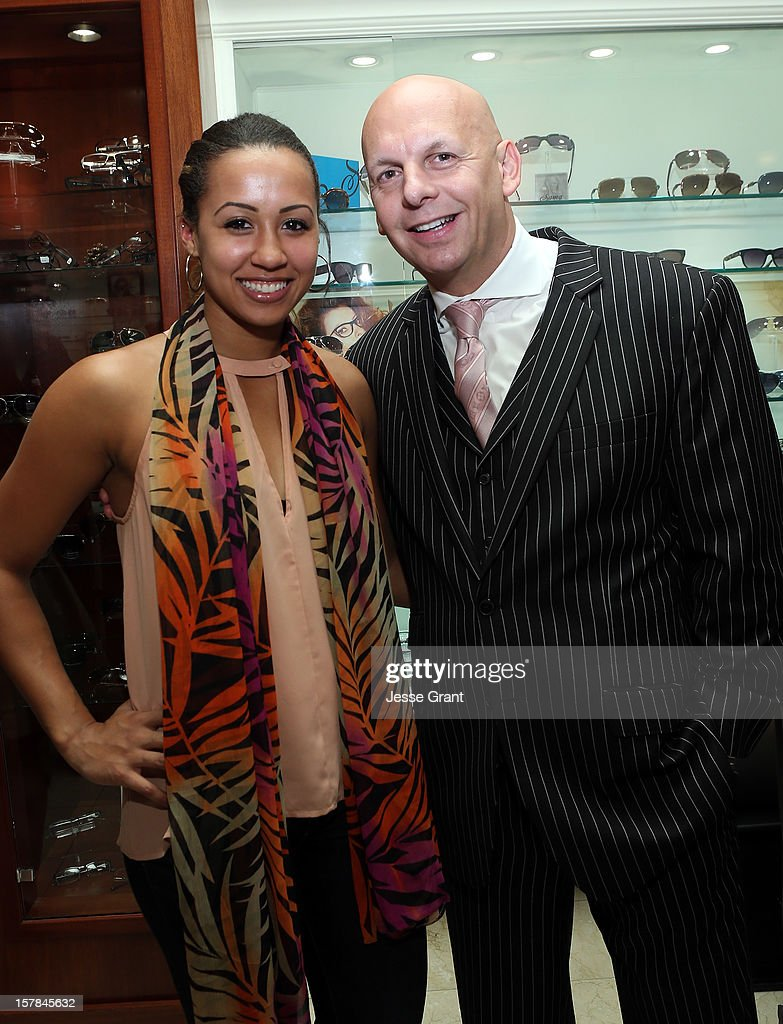 Madison Keyser and owner of The Eye Gallery LA Pierre Keyser attend the Grand Opening of The Eye Gallery In Los Angeles on December 6, 2012 in Los Angeles, California.