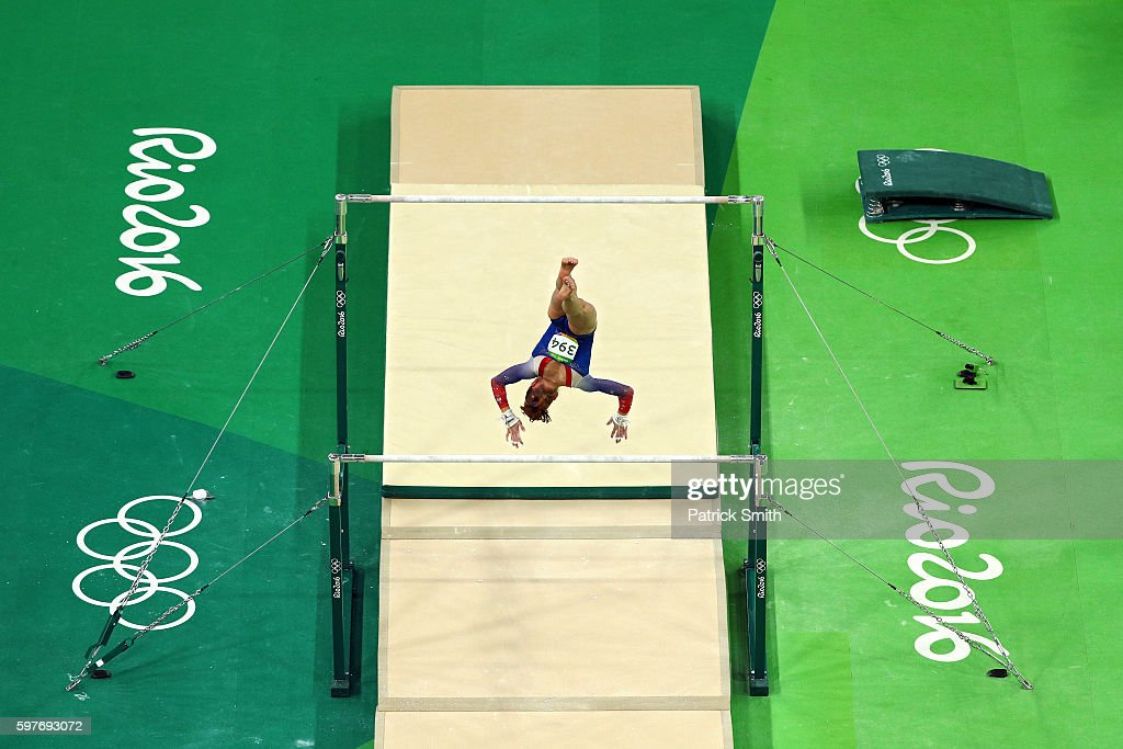 Madison Kocian of the United States competes in the Women's Uneven Bars Final on Day 9 of the Rio 2016 Olympic Games at the Rio Olympic Arena on August 14, 2016 in Rio de Janeiro, Brazil.