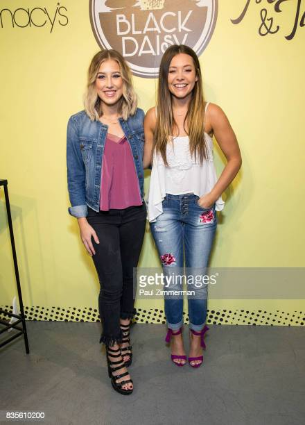 Madison Marlow and Taylor Dye of Maddie Tae visit Macy's Herald Square on August 19 2017 in New York City