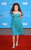 Madison Pettis arrives at the 39th NAACP Image Awards held at the Shrine Auditorium on February 14 2008 in Los Angeles California