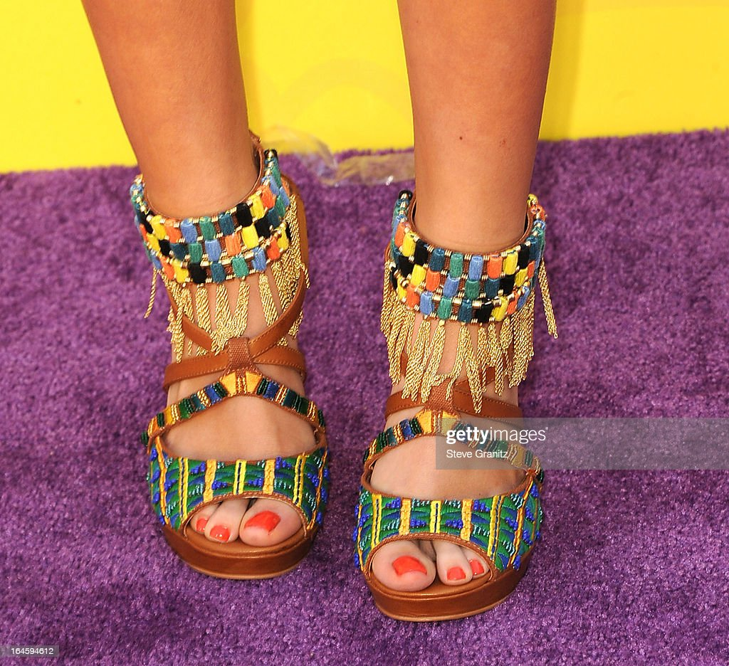 Madison Pettis arrives at the Nickelodeon's 26th Annual Kids' Choice Awards at USC Galen Center on March 23, 2013 in Los Angeles, California.