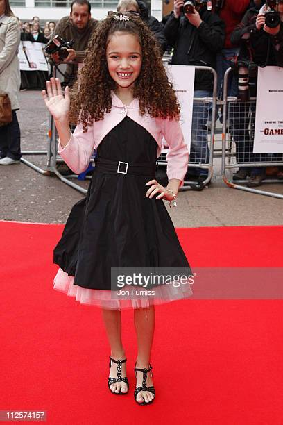 Madison Pettis attends 'The Game Plan' premiere held at the Odeon Leicester Square on March 2 2008 in London England