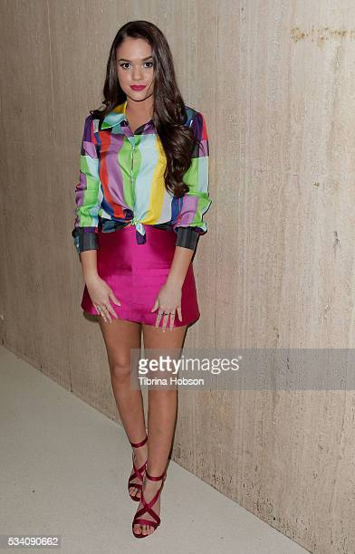 Madison Pettis attends the Wolk Morais Collection 3 Fashion Show at The Standard Hollywood on May 24 2016 in West Hollywood California