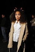 Madison Pettis hangs out on the set of 'Mostly Ghostly' at the Universal Studio Elm Street lot