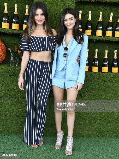 Madison Reed Victoria Justice arrives at the 8th Annual Veuve Clicquot Polo Classic at Will Rogers State Historic Park on October 14 2017 in Pacific...