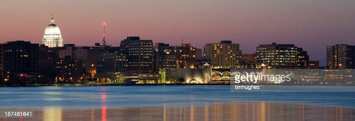 Madison skyline at twilight