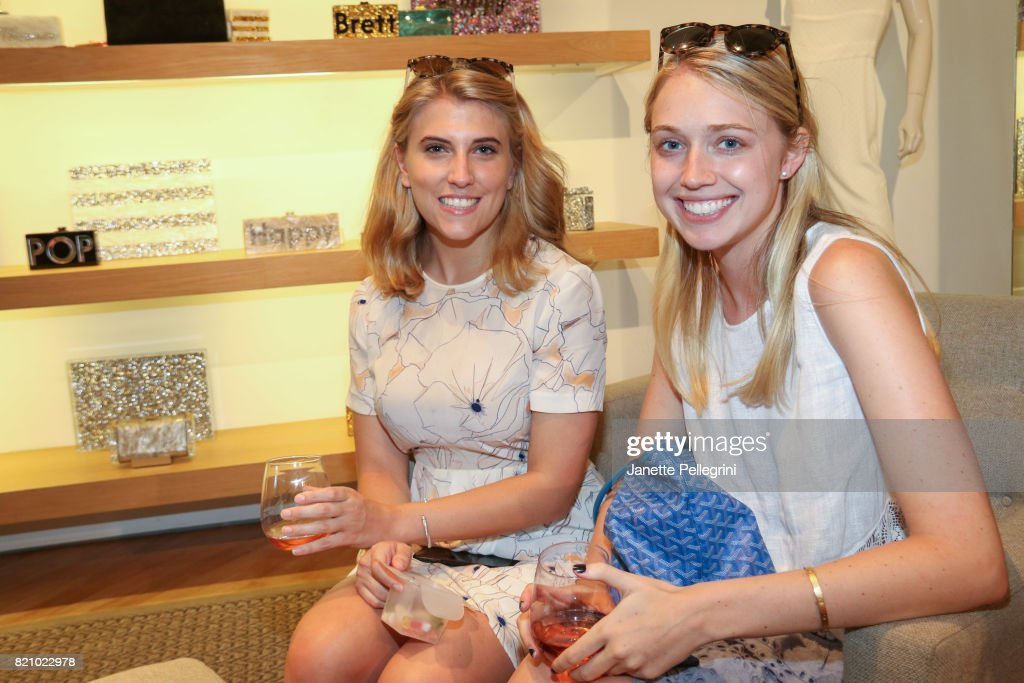madison warren and alex carr attend an edie parker popup at intermix hosted by