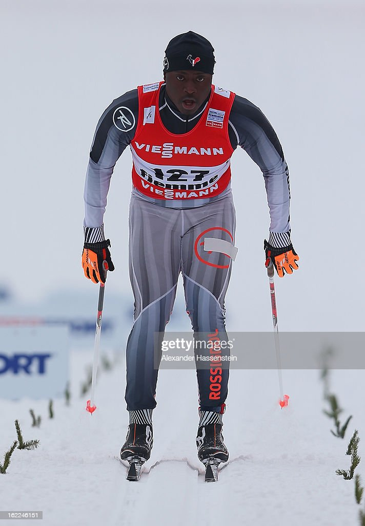 Madja Viossi-Akpedje of Togo competes in the Men's Cross-Country 1.5km Classic Sprint Qualification during the FIS Nordic World Ski Championships on February 21, 2013 in Val di Fiemme, Italy.