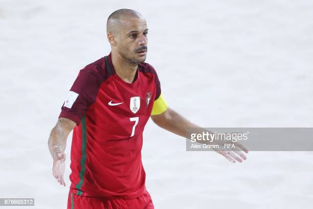 Madjer of Portugal reacts during the FIFA Beach Soccer World Cup Bahamas 2017 group C match between United Arab Emirates UAE and Portugal at National...