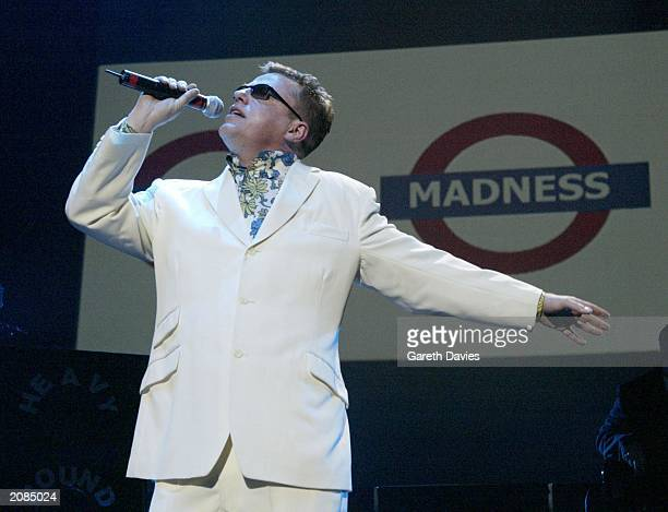 Madness frontman Suggs in concert at the Royal Albert Hall London March 29 2003