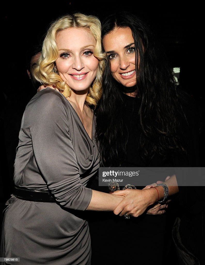 Madonna and Actress Demi Moore inside Madonna and Gucci Host 'A Night to Benefit Raising Malawi and UNICEF' at the United Nations on February 6, 2008 in New York City. **EXCLUSIVE**