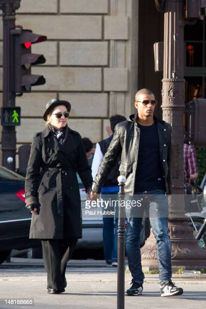 Madonna and Brahim Zaibat are seen on the Place de la Concorde on July 11 2012 in Paris France