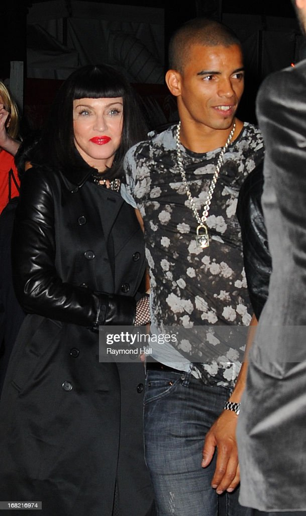 Madonna and Brahim Zaibat attend the 'PUNK: Chaos To Couture' Costume Institute Gala after party at The Standard hotel May 6, 2013 in New York City.