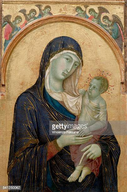 Madonna and Child with Angels by Duccio da Buoninsegna