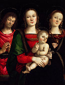 Madonna and Child with Saints Catherine of Alexandria and John the Baptist Found in the collection of Louvre Paris