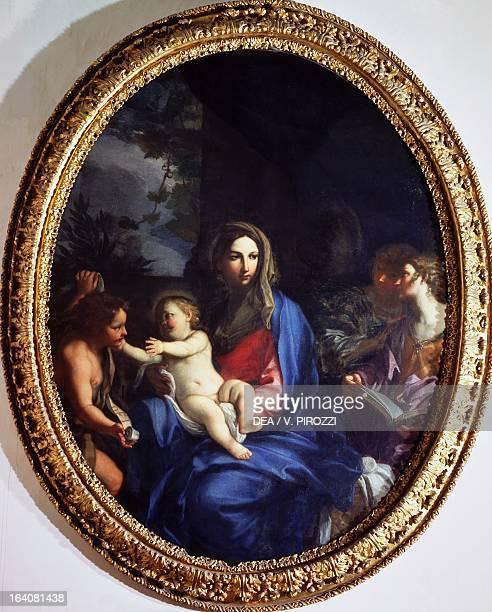 Madonna and Child with the infant St John the Baptist by Carlo Maratta painting Rome Galleria Nazionale D'Arte Antica Di Palazzo Corsini