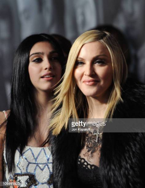 Madonna and daughter Lourdes Leon arrive at the Vanity Fair Oscar Party at Sunset Tower on February 27 2011 in West Hollywood California