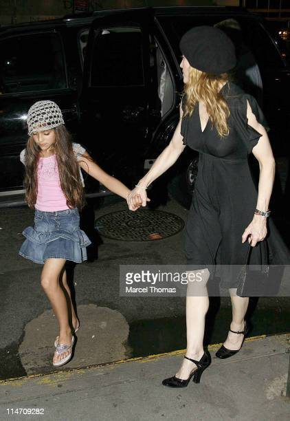 Madonna and daughter Lourdes Leon during Madonna Sighting in New York City June 23 2006 at Kabbalah Center in New York City New York United States