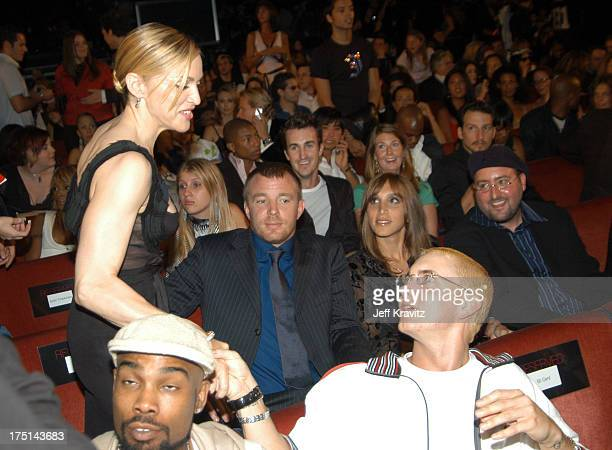 Madonna and Eminem during 2003 MTV Video Music Awards Backstage and Audience at Radio City Music Hall in New York City New York United States