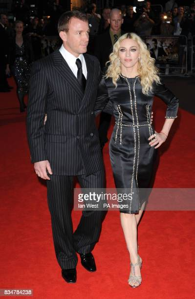 Madonna and Guy Ritchie arrives for the UK Film Premiere of RocknRolla at the Odeon West End Cinema Leicester Square London