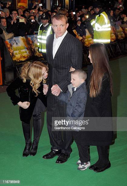 Madonna and Guy Ritchie with their children Rocco and Lourdes