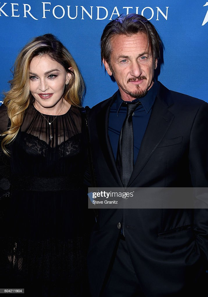 Madonna and host Sean Penn attend the 5th Annual Sean Penn & Friends HELP HAITI HOME Gala Benefiting J/P Haitian Relief Organization at Montage Hotel on January 9, 2016 in Beverly Hills, California.