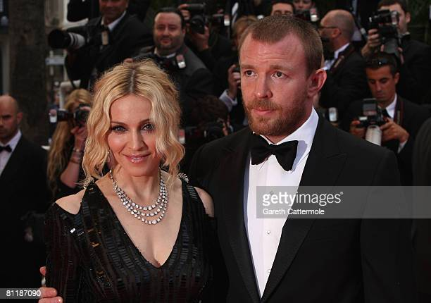 Madonna and husband director Guy Ritchie arrive at the 'I Am Because We Are' Premiere at the Palais des Festivals during the 61st International...