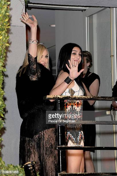 Madonna and Lourdes Leon arrive at the Vanity Fair Oscar party hosted by Graydon Carter held at Sunset Tower on February 27 2011 in West Hollywood...
