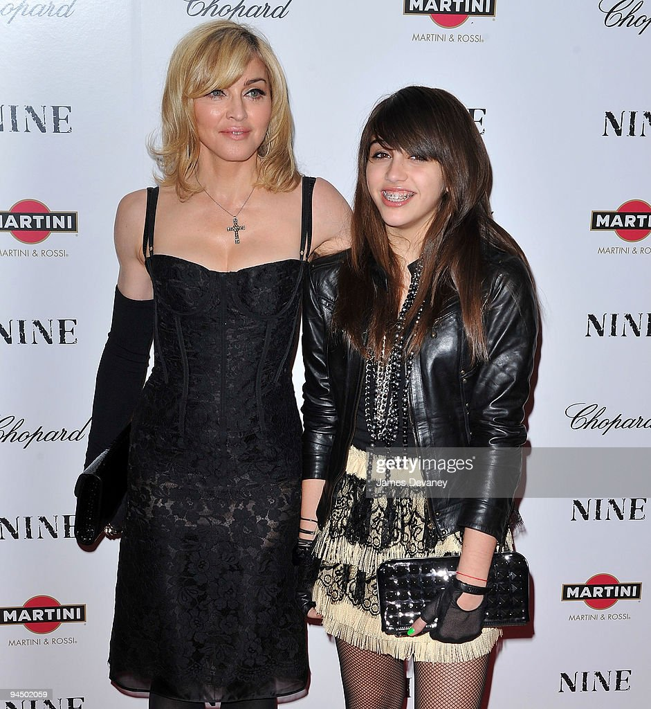 <a gi-track='captionPersonalityLinkClicked' href=/galleries/search?phrase=Madonna+-+Singer&family=editorial&specificpeople=156408 ng-click='$event.stopPropagation()'>Madonna</a> and Lourdes Leon attend the New York premiere of 'Nine' at the Ziegfeld Theatre on December 15, 2009 in New York City.