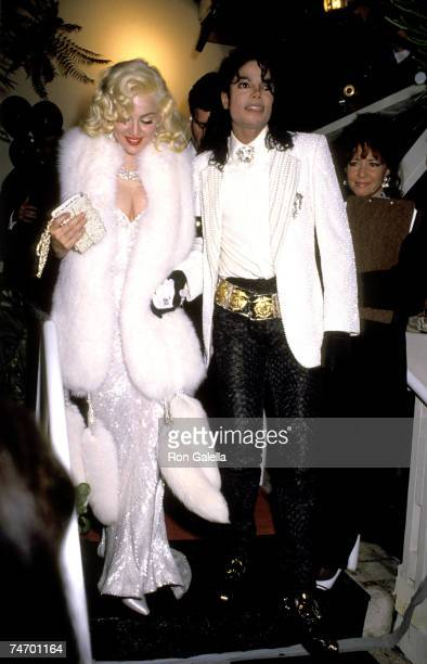 Madonna and Michael Jackson at the Spagos in West Hollywood California