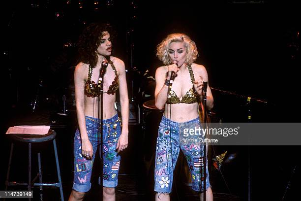 Madonna and Sandra Bernhard at the Rainforest Benefit May 1988