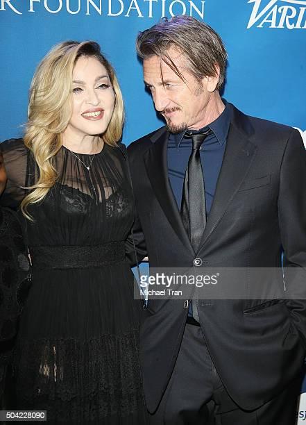 Madonna and Sean Penn arrive at the 5th Annual Sean Penn Friends 'HELP HAITI HOME' gala benefiting J/P Haitian Relief Organization held at Montage...