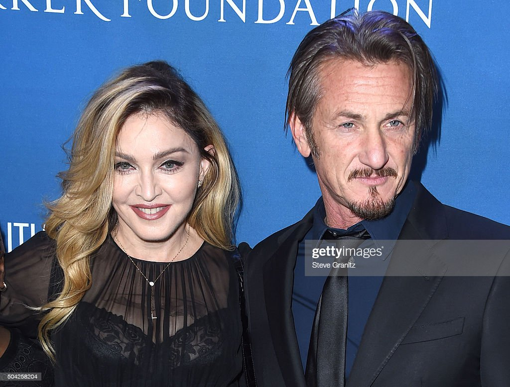 Madonna and Sean Penn arrives at the 5th Annual Sean Penn & Friends HELP HAITI HOME Gala Benefiting J/P Haitian Relief Organization at Montage Hotel on January 9, 2016 in Beverly Hills, California.