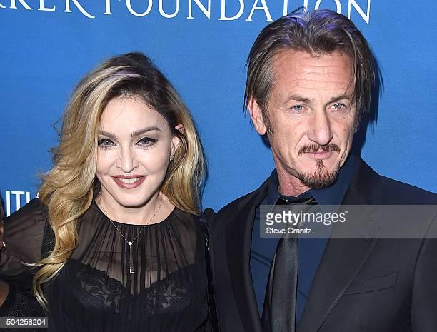 Madonna and Sean Penn arrives at the 5th Annual Sean Penn Friends HELP HAITI HOME Gala Benefiting J/P Haitian Relief Organization at Montage Hotel on...