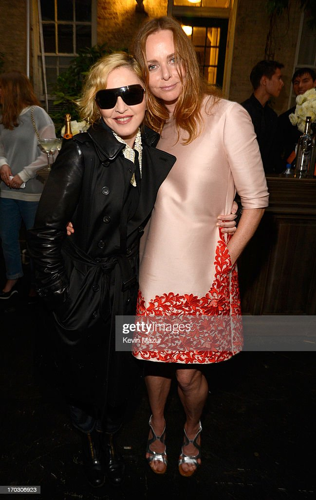<a gi-track='captionPersonalityLinkClicked' href=/galleries/search?phrase=Madonna+-+Chanteuse&family=editorial&specificpeople=156408 ng-click='$event.stopPropagation()'>Madonna</a> and Stella McCartney attend the Stella McCartney Spring 2014 Collection Presentation at West 10th Street on June 10, 2013 in New York City.