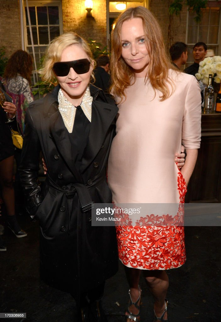 <a gi-track='captionPersonalityLinkClicked' href=/galleries/search?phrase=Madonna+-+Cantante&family=editorial&specificpeople=156408 ng-click='$event.stopPropagation()'>Madonna</a> and Stella McCartney attend the Stella McCartney Spring 2014 Collection Presentation at West 10th Street on June 10, 2013 in New York City.